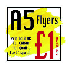More details for a5 flyers leaflets printed full colour flyer leaflet printing 150 gsm silk