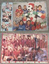 POSTER CALCIO - TOKYO 1989 Milan campione del Mondo e ITALIA 90 - per tifosi