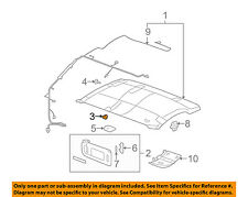 "GM OEM Interior-Sunvisor Sun Visor Support Clip Holder Bracket 15882854 ""Gray"""