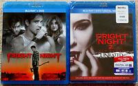 Horror Blu-ray + DVD Lot - Fright Night (Used) Fright Night 2 New Blood (New)