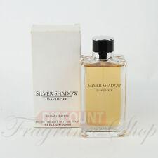 SILVER SHADOW By Davidoff 3.4 OZ Eau De Toilette Men's Cologne - TESTER WITH CAP