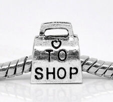 Love to Shop Purse Pocketbook Shopping Bag Spacer Charm for European Bracelets