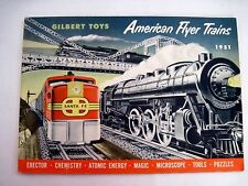 "Fantastic 1951 "" American Flyer Trains & Gilbert Toy Catalog w/ Price List *"