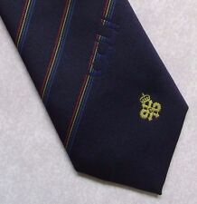 OCLI LOGO QUEEN'S AWARD EXPORT TIE VINTAGE RETRO NAVY 1980s 1990s STRIPED