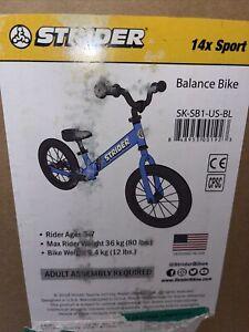 NEW Strider 14x Sport Balance Bike Blue