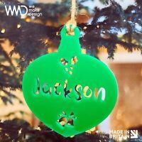 Personalised Acrylic Christmas Tree Decoration Bauble