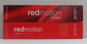 LAKME Redmotion COLLAGE Permanent Cream Hair Color ~ 2 fl. oz. Tubes