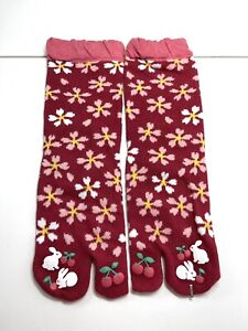 Japanese Kimono Flip Flop Sandal Split Toe Tabi Ninja Geta Socks New