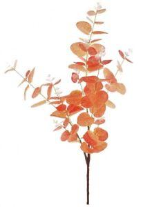 Artificial flowers Eucalyptus Spray burnt Orange Wedding Craft 90 Cm Height