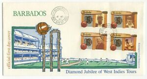 Barbados 1988 Cricket Diamond Jubilee FDC