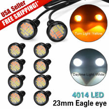 10X 23mm 4014 LED Eagle Eye Light Dual Color White Amber Switchback DRL Lamp New