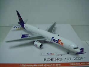 "Gemini Jets 200 Federal Express Fedex B757-200F ""1990s Color"" 1:200 DIECAST"
