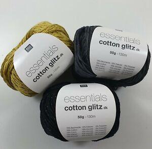 Rico Essentials Cotton Glitz DK