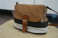 Authentic Burberry Gowan Small Canvas Check And Leather Crossbody Bag in Brown