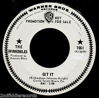 THE INVINCIBLES-Git It-Rare Northern Soul Promo 45-WARNER BROS. #7061