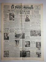 N1089 La Une Du Journal Le Petit Parisien 9 Juillet 1936