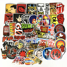 52 Aufkleber Lot Rock Band Punk Musik Heavy Metal Bands Laptop Auto Stoßstange