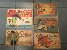 CHARLIE CHAPLIN/Lot of 5 comics books/Chicago 1917 DONOHUE