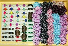 Wholesale Lot of 100 Assorted Costume Jewelry Rings Great Party Favors or Resell