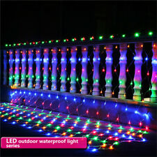 LED Net Mesh Light Xmas Party Wedding Fairy Garden String Light Christmas Tree