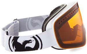 Dragon Alliance NFX Goggles Ski snowboard Amber White + bonus lens NEW