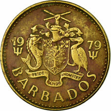 [#703406] Coin, Barbados, 5 Cents, 1979, Franklin Mint, EF, Brass, KM:11