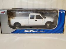 Anson 2001 Chevy Silverado Dually 3500 Pickup Truck 1:18 Scale Diecast White