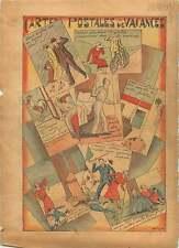 Cartes Postales de Vacances Coq Abeilles Ruche Vache France 1933 ILLUSTRATION