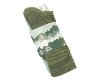 B. Ella Ladies Merino Wool Blend Boot Socks Juniper Dusty Olive Green - NEW