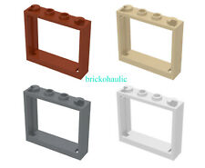 Lego Window 1 x 4 x 3 - No Shutter Tabs Parts Pieces Lot ALL COLORS