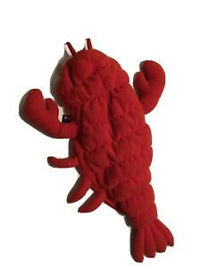 Pet Puppy Dog Small 12 inch Orange Lobster Halloween Costume Hook and Loop