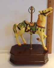 "Carousel Horse Music Box Ceramic & Wood~""Charles Carmel""~Impulse Giftware~1989"