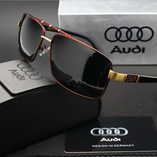 New Sunglasses Polarized Men Driving Audi Glasses With Box Red 550