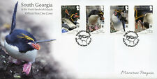 South Georgia & Sandwich Is 2017 FDC Macaroni Penguins WWF 4v Cover Birds Stamps