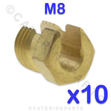 PACK OF 10 M8 X 1 THERMOCOUPLE SPLIT NUTS FOR SIT BLACK TEKNIGAS VALVE BACK NUTS