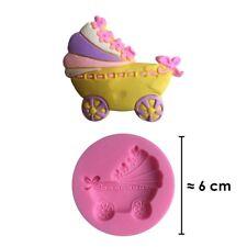 Moule silicone 3D Bébé couffin pour pâte à sucre, cake design, décoration