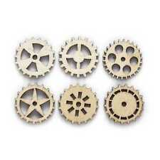 50pcs Gear Wood Patch for Sewing Scrapbooking Clothing Gift Crafts Handwork 25mm