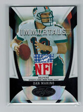 2009 09 DAN MARINO PANINI CERTIFIED NFL LOGO SHIELD PATCH MIRROR BLACK #ED 1/1