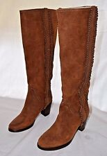Women's Frye Bella Flower Pull-on Rust Brown Boots 5 1/2 M