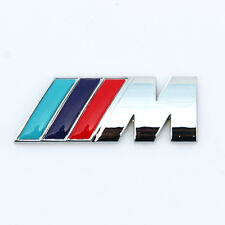 New BMW M Power Series 1 2 3 4 5 6 7 Z X M3 M5 M6 Logo Emblem Badge Chrome