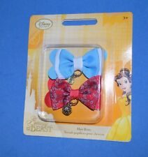 Disney Store Beauty & the Beast Princess Belle Hair Bow Set New