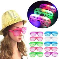 Shutters LED Flashing Glasses Glowing Eye Glasses Light Up Party New Type 2019