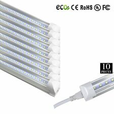 10x LED 4 Foot T8 Integrated Tube Light W/ Bracket 20w Bright White CLEAR 6500K