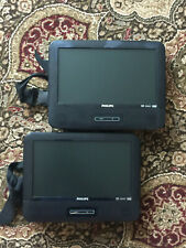 Pair of Philips PD9016/37 Portable / Car DVD Players