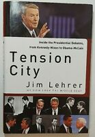 Tension City Signed by Jim Lehrer Autographed Hardback 1st Edition PBS News Host