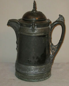 REED & BARTON SILVER PLATED WATER PITCHER COFFEE SERVER