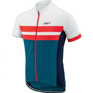 Louis Garneau Evans Classic Men's Cycling Jersey Blue/White Large