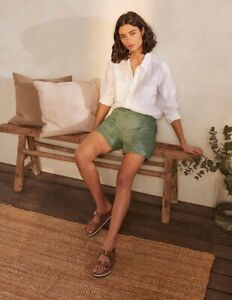 """Boden Abingdon Shorts - Alder, UK 10 9"""" Leg, New With Tags, Olive Green"""