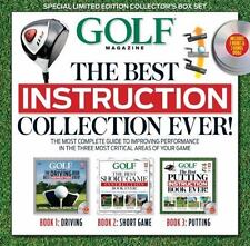 Golf The Best Instruction Collection Ever Editors of Golf Magazine 3 Books 3 DVD