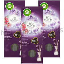 3 X AIRWICK AIR WICK REED DIFFUSER SWEET LAVENDER OIL STICK FRESHENER HOME 25ML